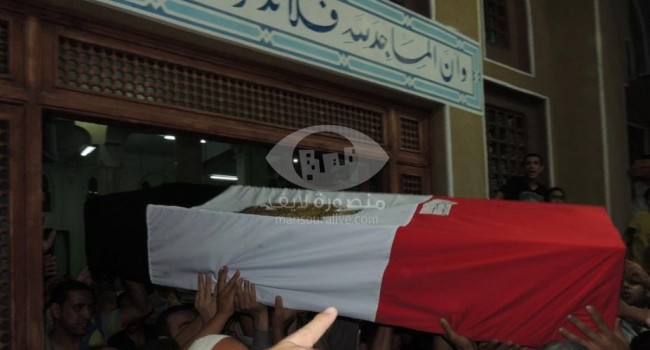 تشييع جثمان عريف شرطة من الدقهلية بعد استشهاده فى حادث ارهابى بالعريش