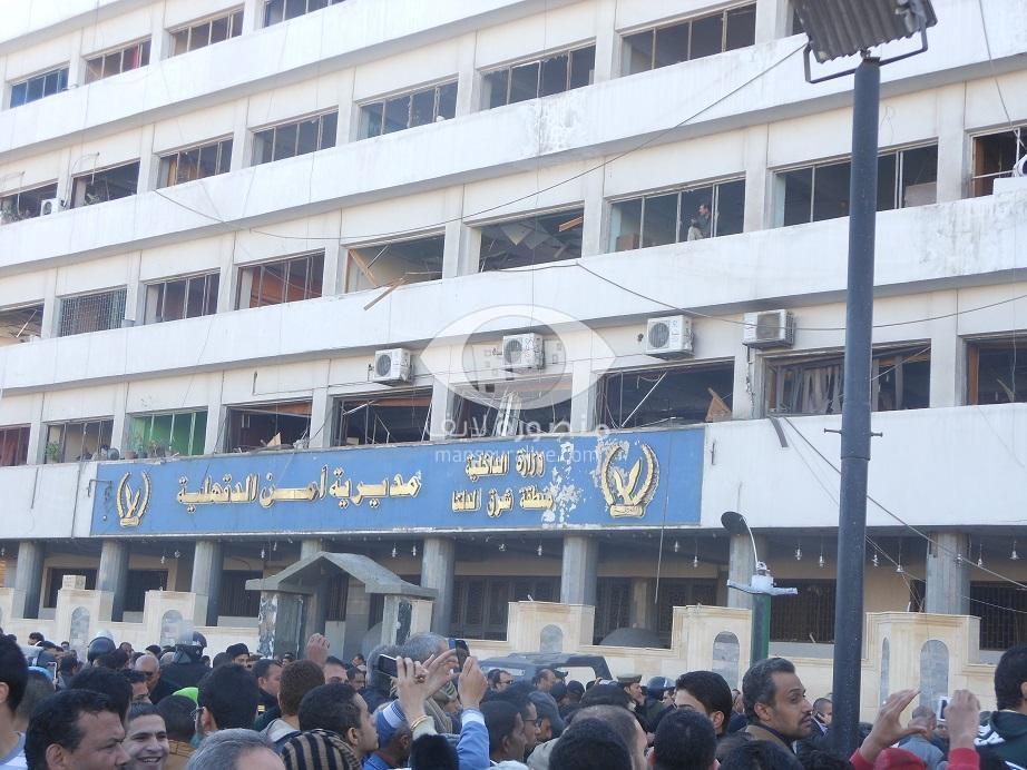 أكبر مجموعة صور للحادث الارهابى الذى استهدف مديرية امن الدقهلية