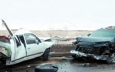 اصابة 10 اشخاص فى حادث تصادم بالدقهلية