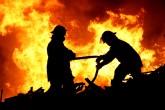 اخماد حريق هائل بشونة أخشاب بمدينة أجا