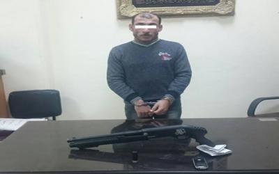 القبض على عاطل بمدينة المنصورة بحوزته بندقية خرطوش