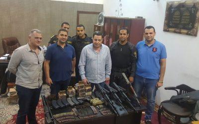 ضبط كمية من الاسلحة والذخائر النارية بمركز نبروه