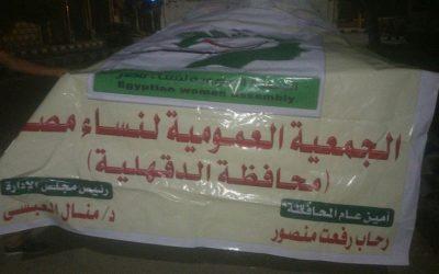 الجمعية العمومية لنساء مصر بالدقهلية توزع 250 شنطة رمضان