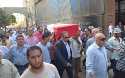 المنصورة تشييع جثمان الشهيد نائب مأمور قسم شرطة القصيمة بشمال سيناء