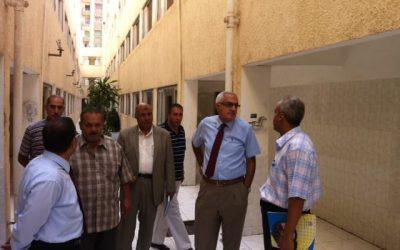 نائب رئيس جامعة المنصورة يتفقد تجهيزات المدن الجامعية