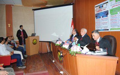 رئيس جامعة المنصورة يحكم رسالتى دكتوراه لطبيبين كويتيين