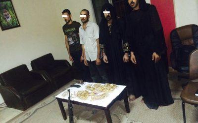 القبض على عصابة سرقت محل مصوغات بالمطرية