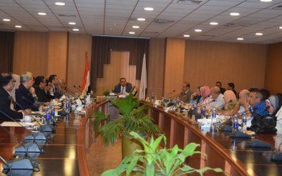 مجلس العمداء بجامعة المنصورة يناقش استعدادات العام الدراسى الجديد
