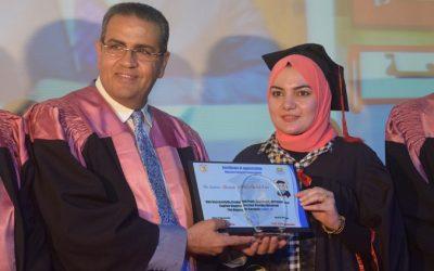 جامعة المنصورة تحتفل بتخرج الدفعة 17 لشعبة اللغة الانجليزية بكلية التجارة