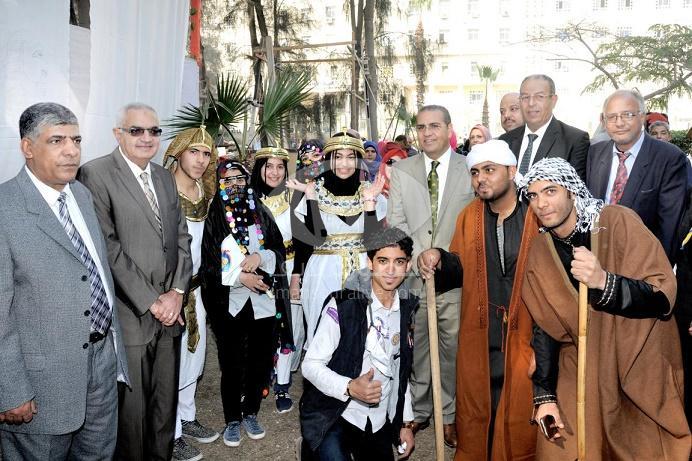 بالصور طلاب 12 كلية يشاركون فى المهرجان الكشفى والارشادى بجامعة المنصورة