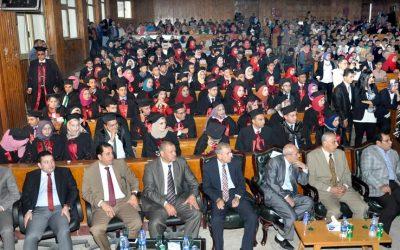 بالصور جامعة المنصورة تحتفل بتخرج الدفعة 39 من طلاب كلية الحقوق