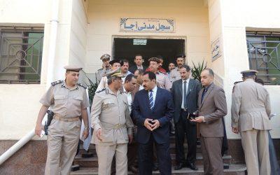 افتتاح السجل المدنى بأجا بعد تجديده
