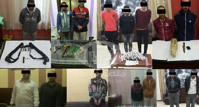 مباحث الدقهلية تضبط 15 شخصا بحوزتهم اسلحة نارية ومخدرات