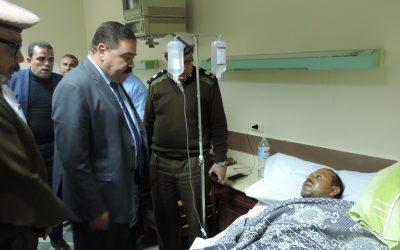 اصابة فردين شرطة فى حادث على طريق ميت غمر المنصورة