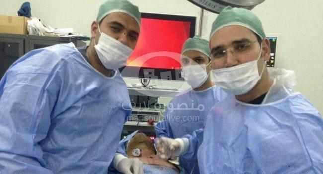 نجاح اول عملية لاستئصال الغدة اللعابية بالمنظار بمركز الأورام بجامعة المنصورة