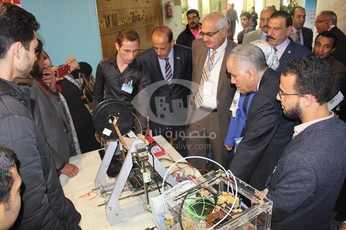 افتتاح فعاليات ملتقى الابتكارات والاختراعات لطلاب الجامعات بجامعة المنصورة