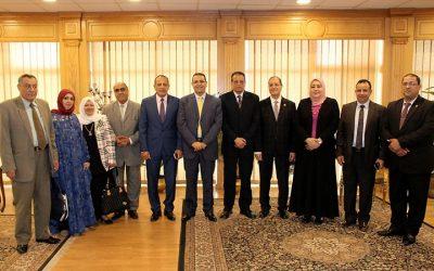 رئيس جامعة المنصورة يستقبل فريق الهيئة القومية لضمان جودة التعليم والاعتماد