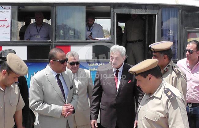 بالصور مدير أمن الدقهلية يفتتح وحدة مرور متنقلة