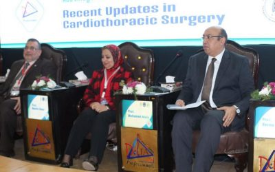 افتتاح فعاليات المؤتمر الدولى السادس لجراحة القلب والصدر بجامعة المنصورة
